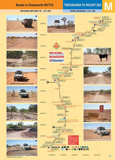 sample page of Tibooburra to Mount Isa